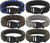 Deluxe Survival Paracord Cobra Bracelet w/ Buckle
