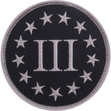 Black & Silver Three Percenter Patch 3-1/4