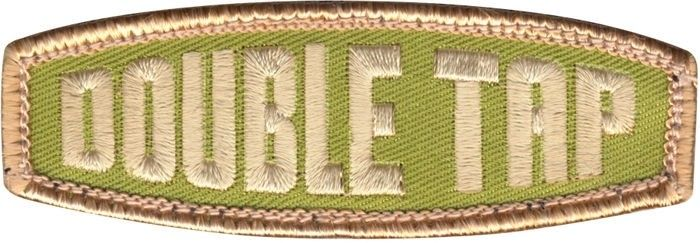 Olive Drab & Tan Military Double Tap Patch 1
