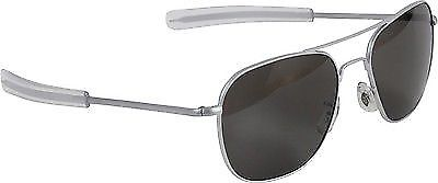 AO Eyewear Matte Aviators / Grey Lenses, Air Force Pilot Sunglasses GI Military