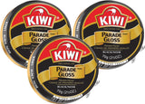 3 Pack - Kiwi Black Large Parade Gloss 2.5 oz Premium Shoe Polish