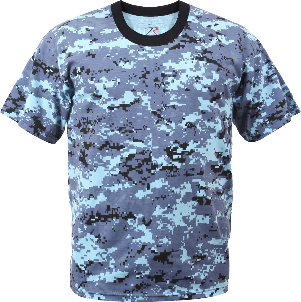 Subdued Urban Digital Camouflage Tactical Military Short Sleeve T-Shirt 5960