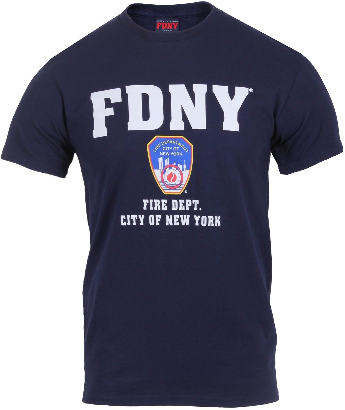 Navy Blue Official FDNY Fire Department City of New York T-Shirt