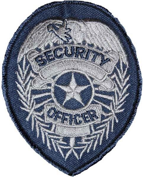 Grey Embroidered Security Patch 2-3/4
