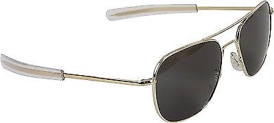 American Optics Gold Aviator Pilot Sunglasses Air Force Grey Lenses With Case