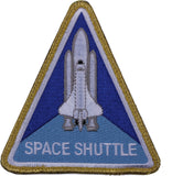 NASA Space Shuttle Morale Triangle Patch with Hook & Loop Back 4