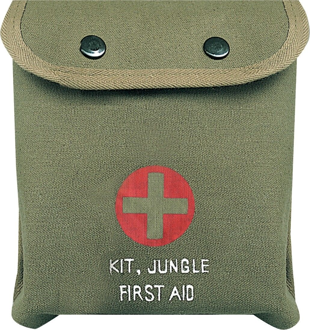 Olive Drab M-1 Jungle First Aid Red Cross Pouch