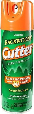 Cutter Unscented 10 Hour Insect Repellent Water Resistant Bug Spray Can 6 oz