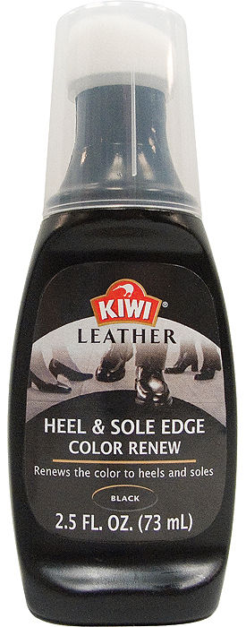 KIWI Black Leather Heel & Sole Edge Color Renew Shoe Cleaning Polish