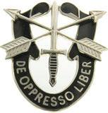 US Special Forces De Oppresso Liber Sword & Arrow Clutch Back Pin