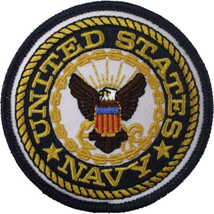 United States Navy Us Eagle Embroidered Logo Round 3 Patch Army