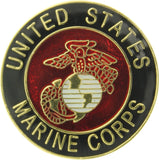 Marine Corps Globe & Anchor Logo Official Round USMC Insignia Pin 1