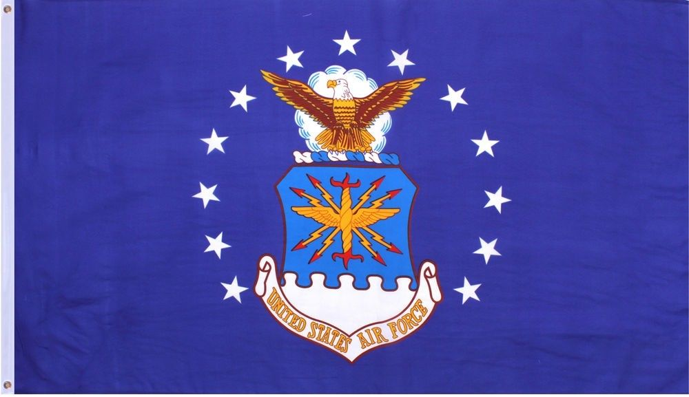Blue Officially Licensed US Air Force Emblem Flag 3' x 5'