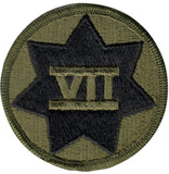 Subdued US Army 7th Corps Insignia Patch