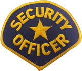 Security Officer Embroidered Patch 4.25