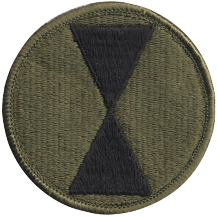 Subdued United States Army 7th Infantry Division Patch