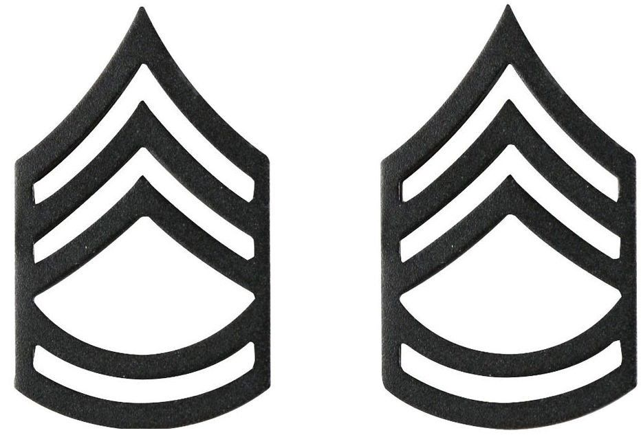 Subdued Sergeant First Class United States Army Rank Insignia Pin