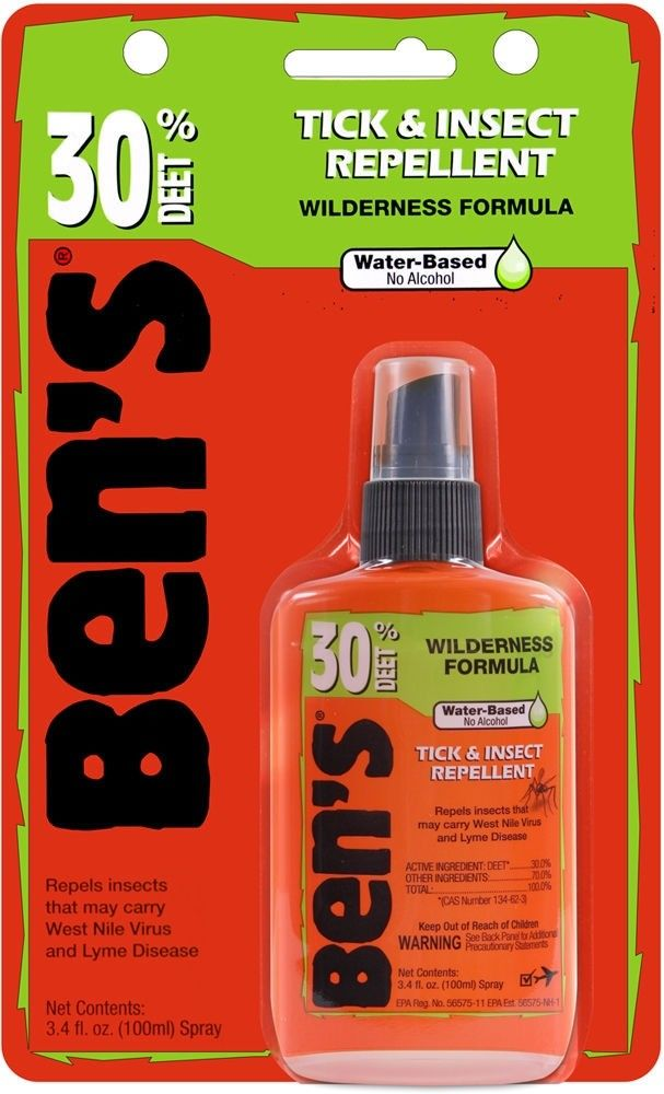 Ben's Military 30% Deet Tick & Insect Repellent Spray Pump 3.4oz