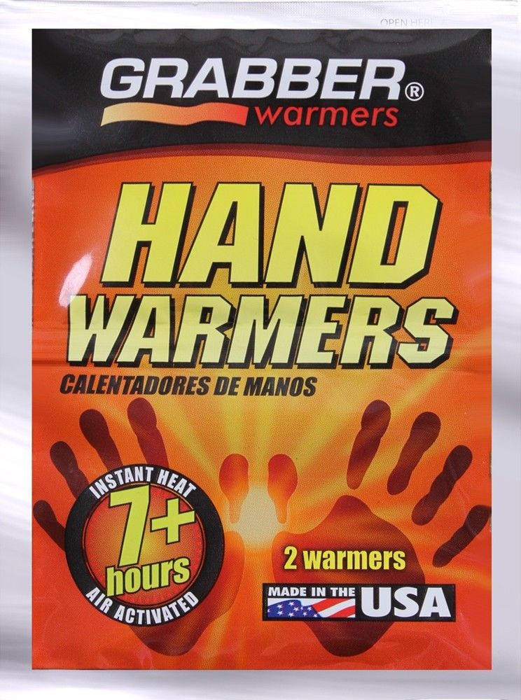 Grabber Hand Warmers 7+ Hour Lasting Warmers - 2 PACK