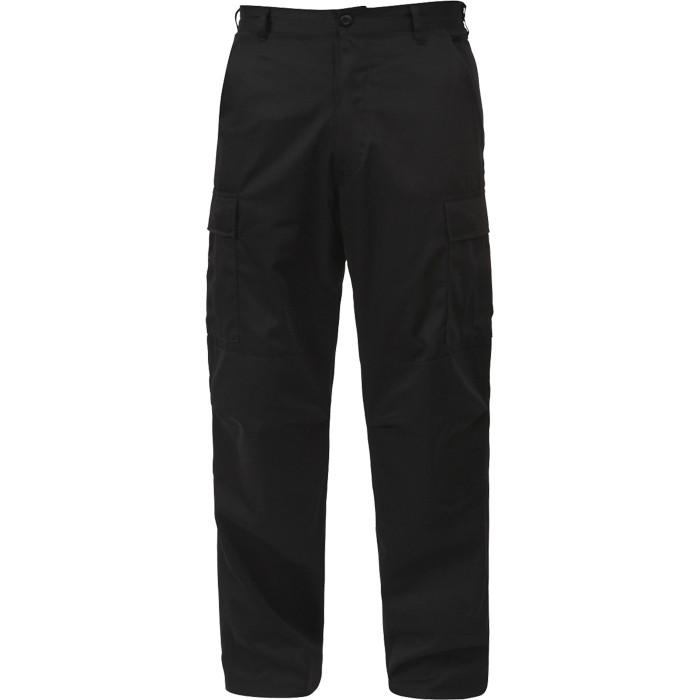 Black - Military BDU Pants (Cotton Rip-Stop)