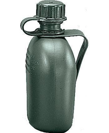 Olive Drab - Genuine GI 1 Quart Canteen with Belt Clip - USA Made