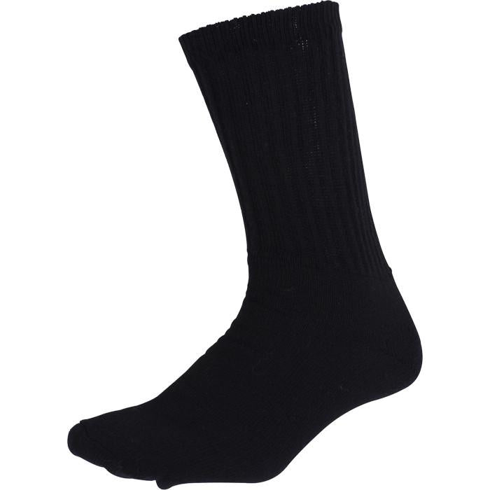 Black - Athletic Crew Socks Pair - USA Made