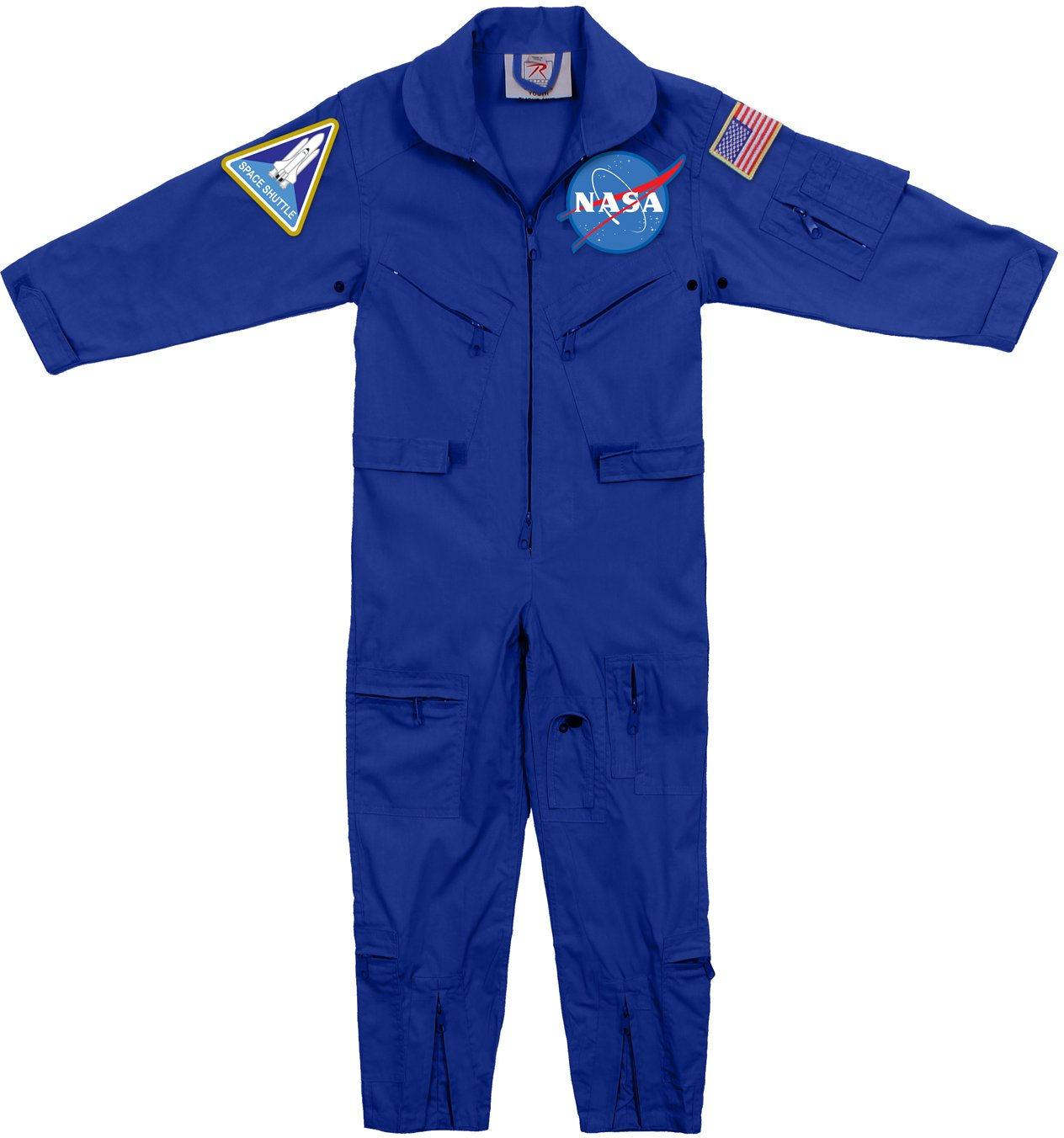 Blue - Kids NASA Flight Coveralls With Official NASA Patch