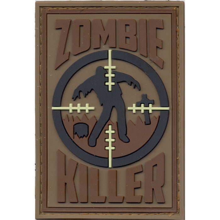 Zombie Killer PVC Patch with Hook Back