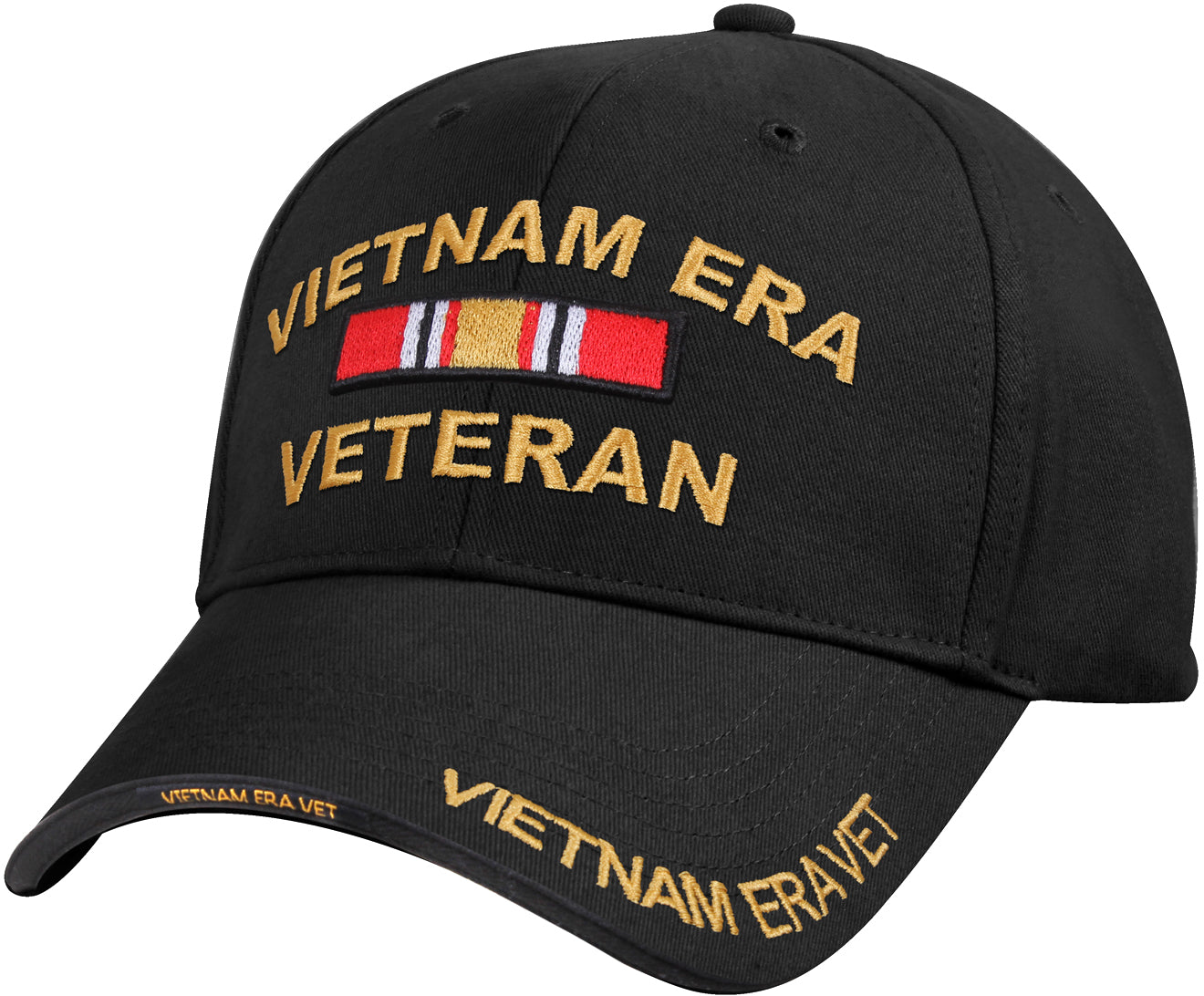 Black - Deluxe Low Profile Vietnam Veteran Era Cap