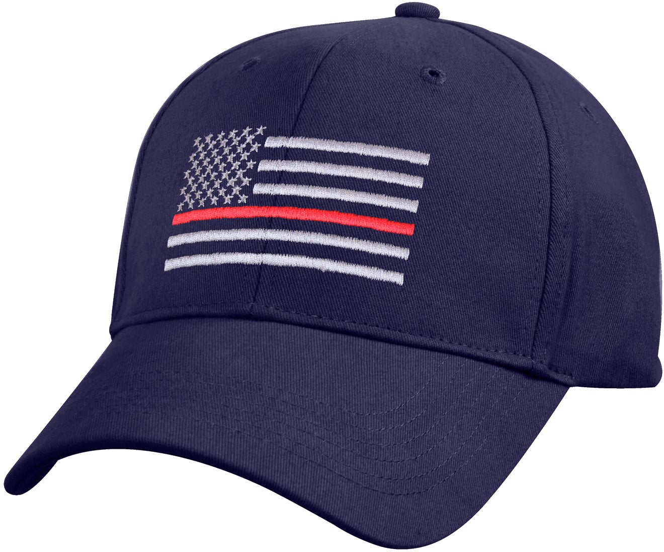 Navy Blue - Thin Red Line Flag Low Profile Cap