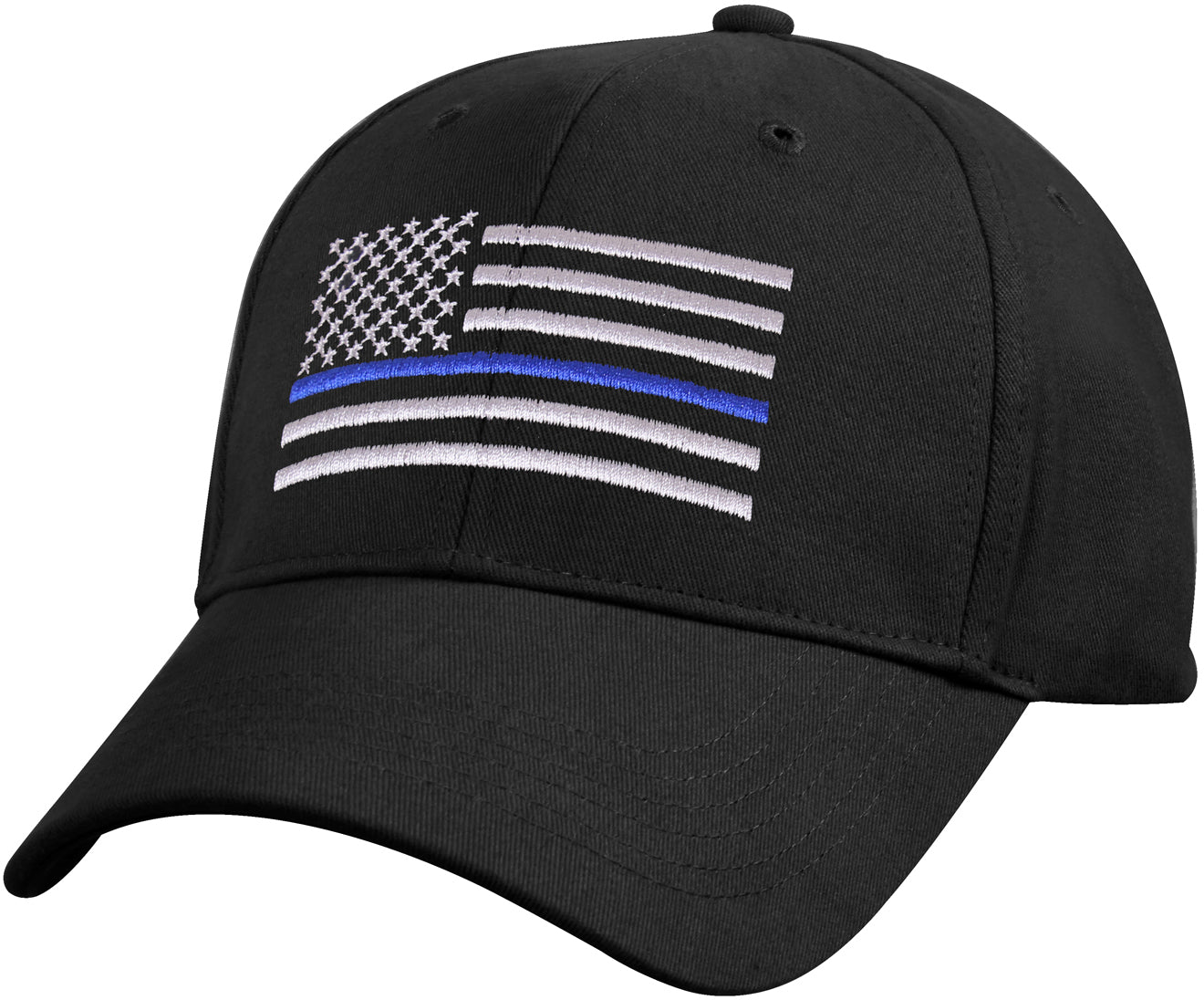 Kids - Black Low Profile Thin Blue Line Flag Cap