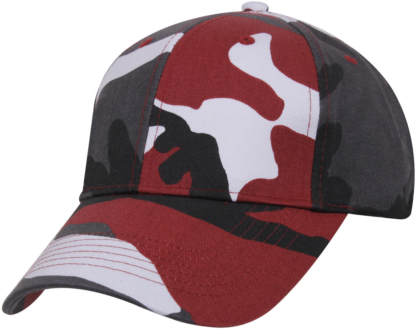Red Camouflage - Military Low Profile Adjustabe Baseball Cap