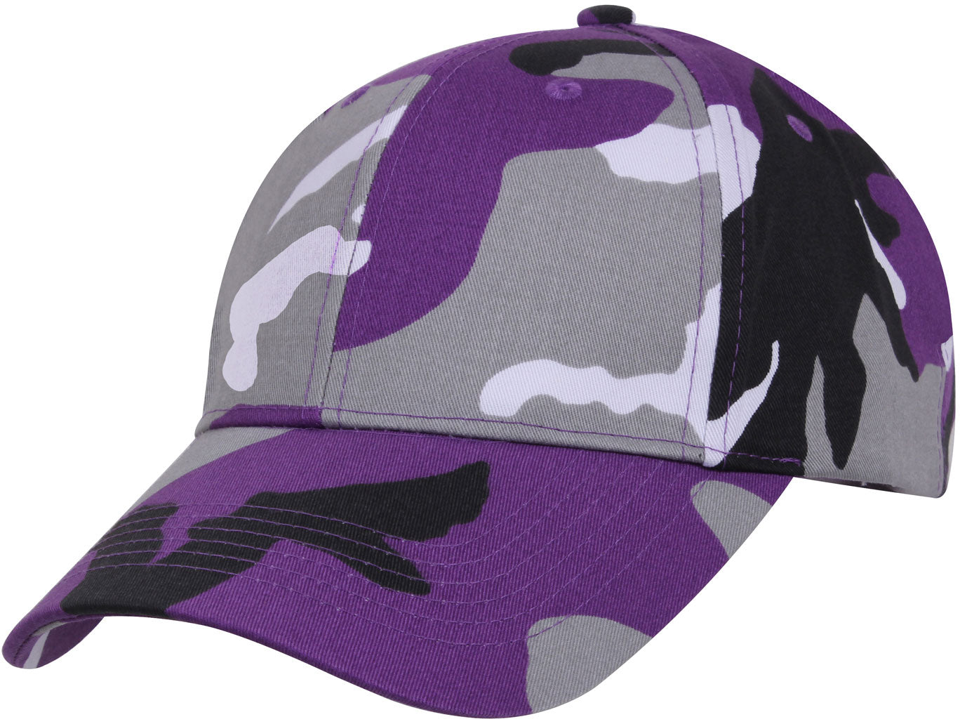 Purple Camouflage - Military Low Profile Adjustabe Baseball Cap