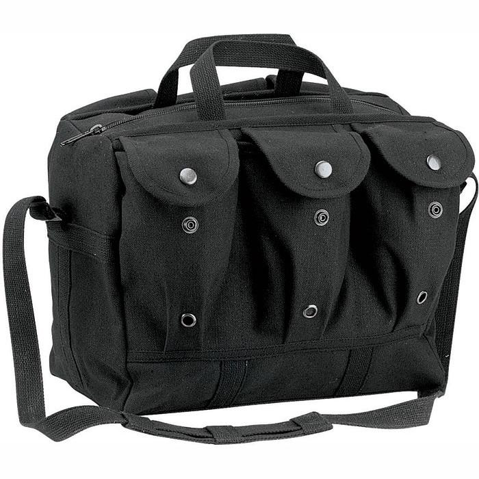 Black - Public Safety Medical Equipment Mag Bag - Canvas