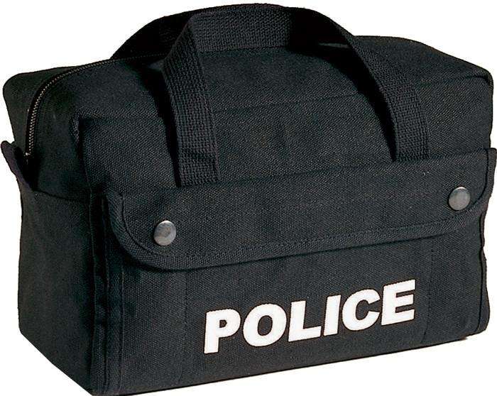 Black - Law Enforcement POLICE Tactical Equipment Bag - Cotton Canvas