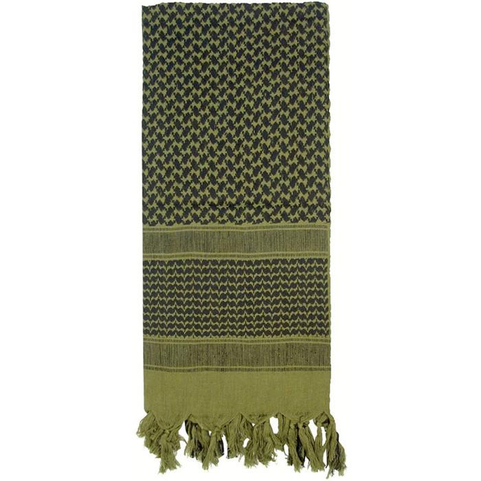 Olive Drab   Black - Shemagh Tactical Desert Scarf
