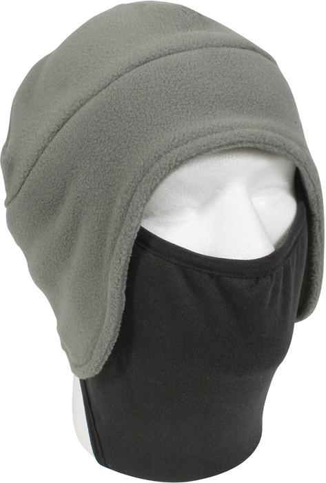 Foliage Green Black - Convertible Fleece Cap with Face Mask