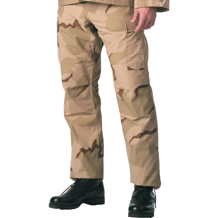 Tri-Color Desert Camouflage - Military BDU Pants (Polyester/Cotton Twill)