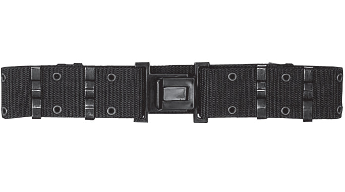 Black - Military Style Quick Release Pistol Belt