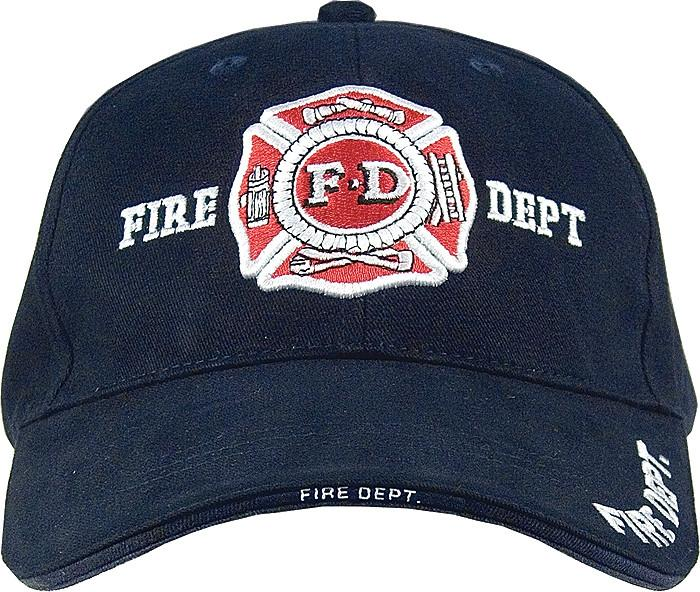 Navy Blue - FIRE DEPT Deluxe Adjustable Cap with Fire Department Emblem