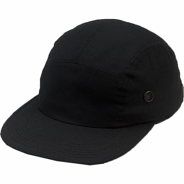 Black - Military Style Urban Street Cap - Cotton Ripstop