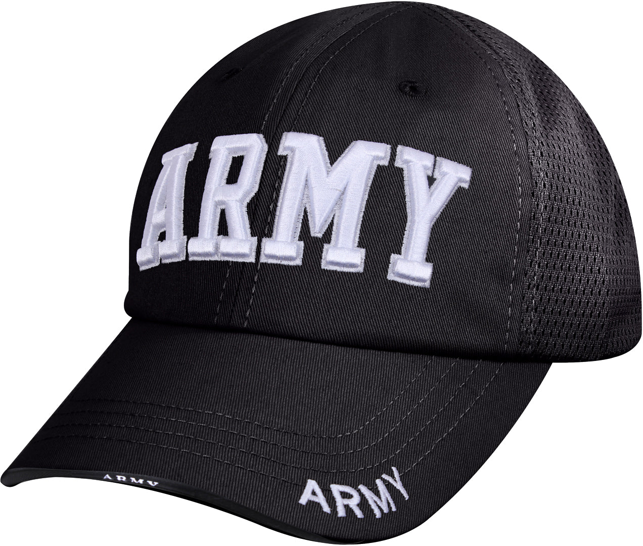 Black - Army Mesh Back Tactical Cap