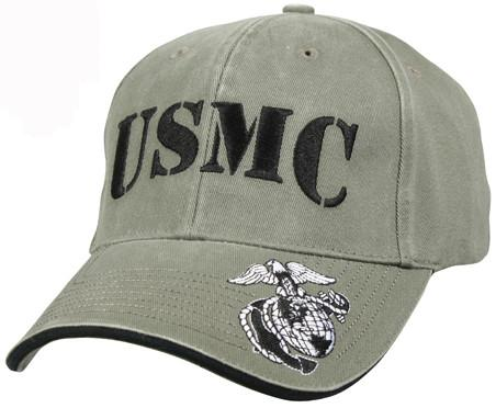 Olive Drab - Vintage USMC Low Profile Adjustable Baseball Cap