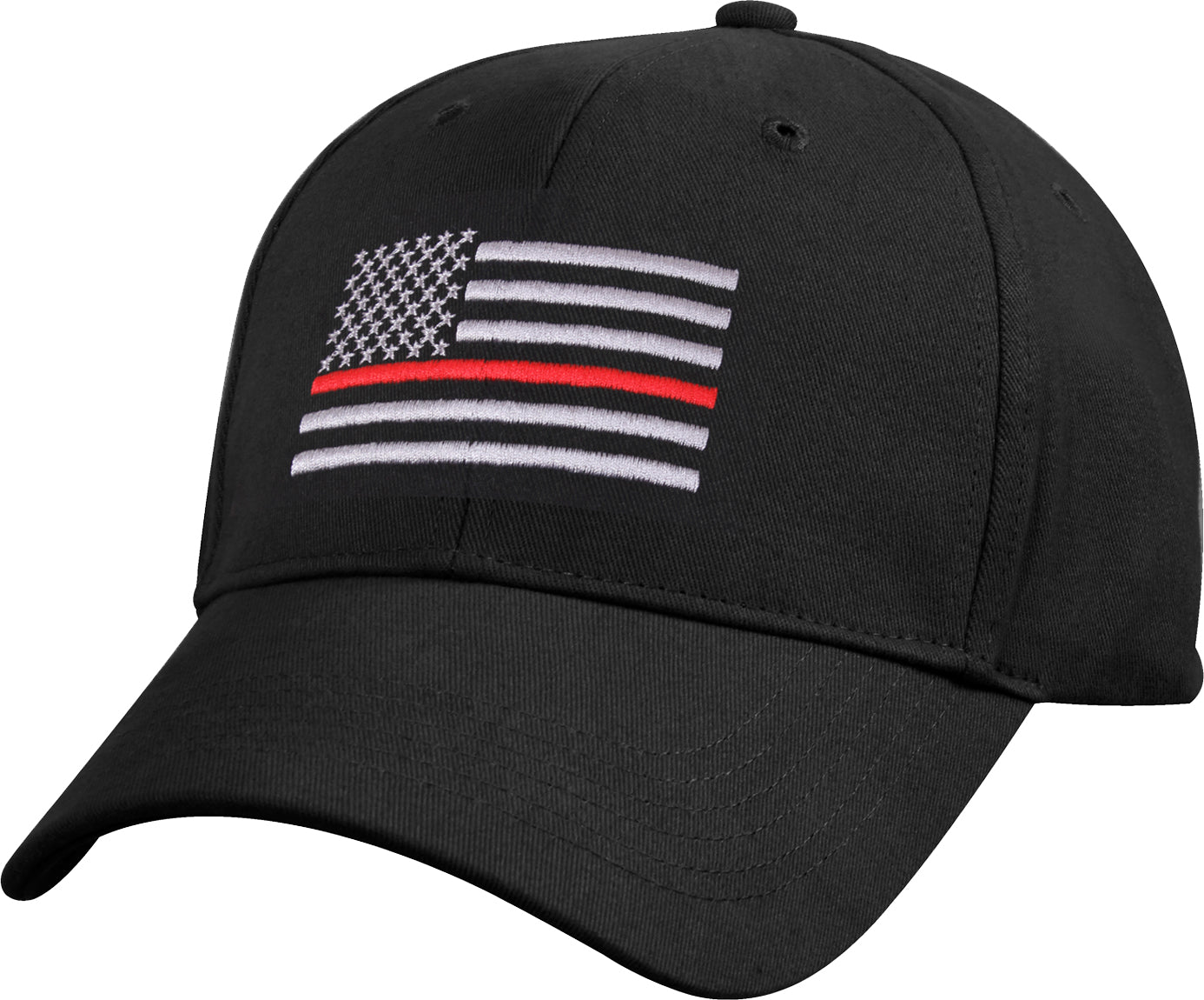 Black - Thin Red Line Flag Low Profile Cap