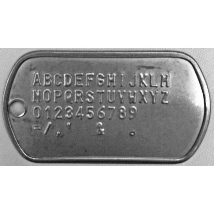Stainless Steel US Military Dog Tag GI Issue Custom Embossed Print