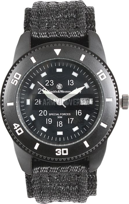 Black Smith & Wesson Military Tactical Commando Watch