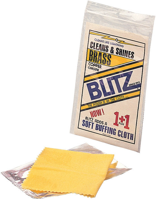 Blitz Copper Brass and Chrome Cleaning Cloth - USA Made