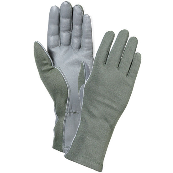 Olive Drab - Military Style Flame & Heat Resistant Tactical Flight Gloves