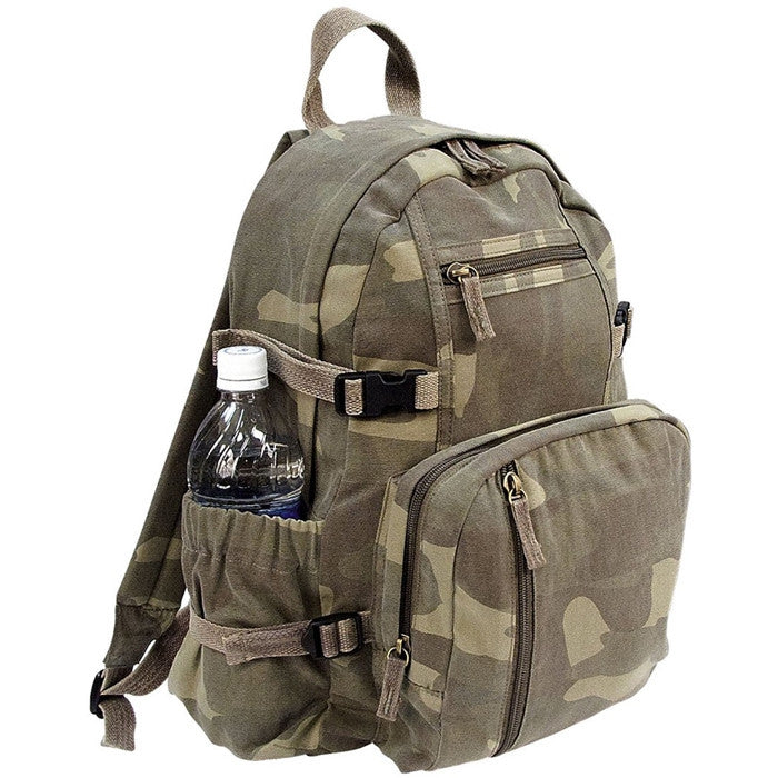 Woodland Camouflage - Vintage Military Mini Backpack