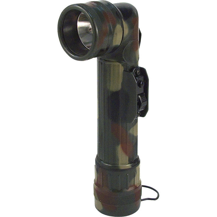Woodland Camouflage - Army Style D-Cell Anglehead Flashlight
